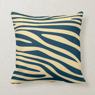 Vintage Animal print skin of Zebra Throw Pillow