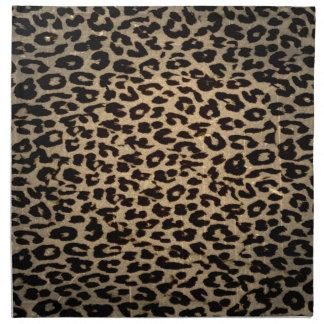 Vintage animal skin texture of leopard napkin