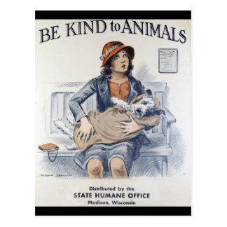Vintage animal welfare postcard