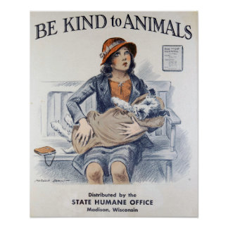 Vintage Animal Welfare Poster
