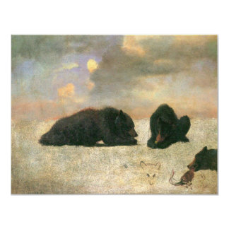 "Vintage Animals, Grizzly Bears by Albert Bierstadt 4.25"" X 5.5"" Invitation Card"
