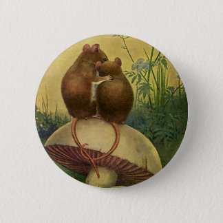Vintage Animals, Love and Romance Field Mice 2 Inch Round Button