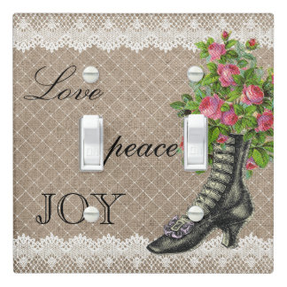 Vintage Ankle Boot Rose Flower Light Switch Lace 2