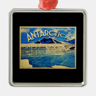 Vintage Antarctica South Pole Metal Ornament
