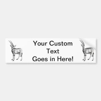 Vintage Antelope Prong Horn Animal Drawing Bumper Sticker