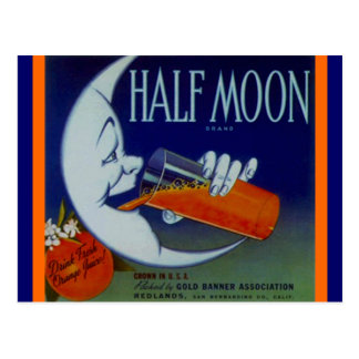 Vintage Anthropomorphic Half Moon OJ Postcards PC