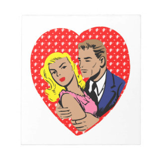 vintage anti valentine notepad
