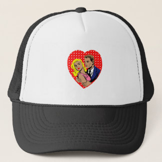 vintage anti valentine trucker hat