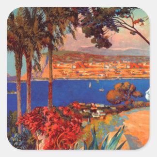 Vintage Antibes Cote D'Azur Travel Sticker