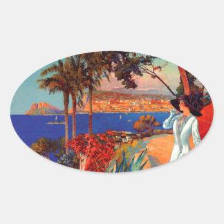 Vintage Antibes Cote D'Azur Travel Stickers