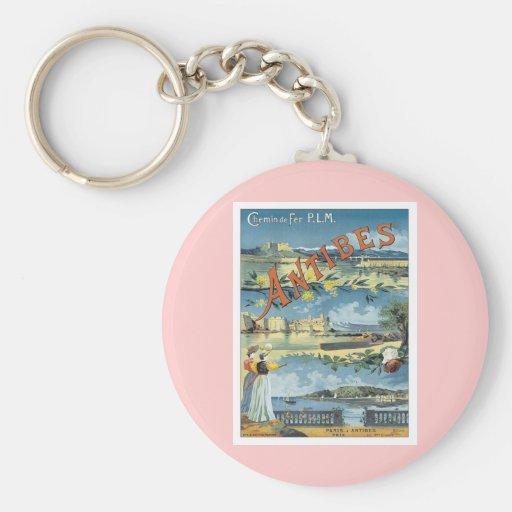 Vintage Antibes Mediterranean Key Chain