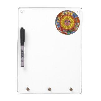 Vintage Antique Astrology, Celestial Zodiac Wheel Dry-Erase Whiteboard