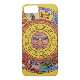 Vintage Antique Astrology, Celestial Zodiac Wheel iPhone 8/7 Case