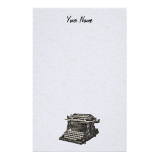 Vintage Antique Black Old Fashioned Typewriter Stationery