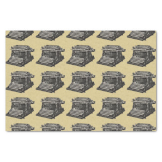 Vintage Antique Black Old Fashioned Typewriter Tissue Paper