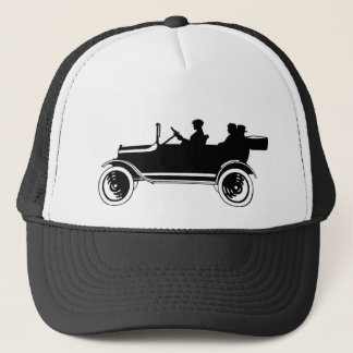 Vintage Antique Car Silhouette Cap Hat
