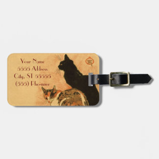 Vintage Antique Cats Theophile Steinlen Animals Luggage Tag