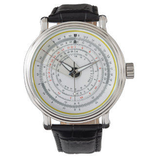 Vintage Antique Circular Slide Rule Watch