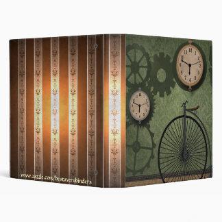 Vintage Antique Clocks Cycle Notebook Avery Binder
