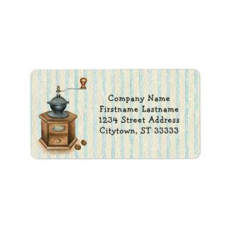 Vintage Antique Coffee Grinder Label