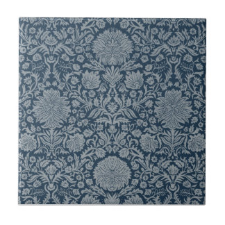 Vintage Antique Distressed Floral Damask Tile