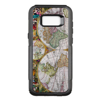Vintage Antique French Map of the Hemispheres OtterBox Commuter Samsung Galaxy S8+ Case