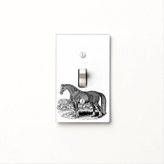 ViNTAGE ANTiQUE HOrSE Light Switch Cover