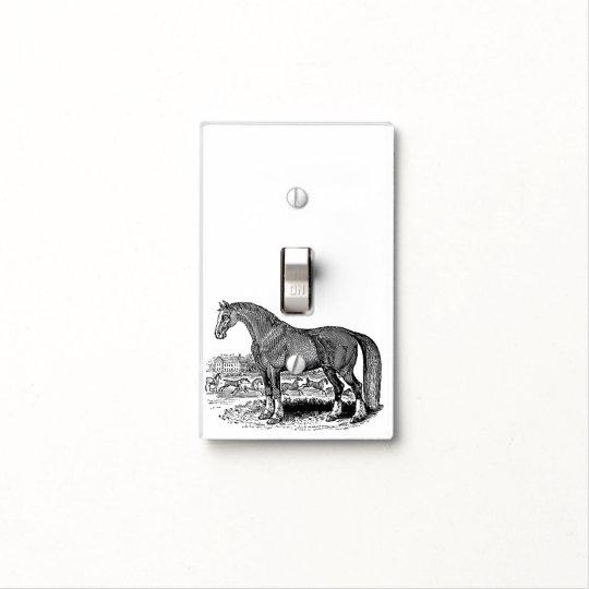 ViNTAGE ANTiQUE HOrSE Light Switch Cover