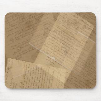 Vintage Antique Letters Collage Mousepad