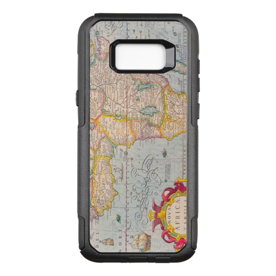 Vintage Antique Map of Africa Circa 1610 OtterBox Commuter Samsung Galaxy S8+ Case