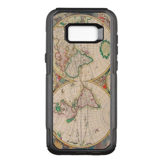 Vintage Antique Map of the Hemispheres OtterBox Commuter Samsung Galaxy S8+ Case
