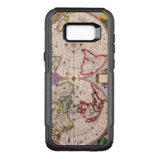 Vintage Antique Map of the World From the Poles OtterBox Commuter Samsung Galaxy S8+ Case