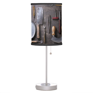 Vintage Antique Metal Kitchen Tools Table Lamp