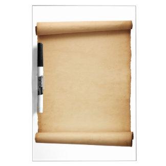 Vintage antique old historical scroll dry erase dry erase board
