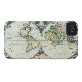 Vintage Antique Old World Map, 1666 by Pieter Goos iPhone 4 Case-Mate Case