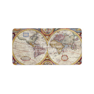 Vintage Antique Old World Map cartography