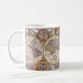 Vintage Antique Old World Map cartography Coffee Mug