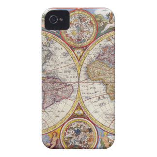 Vintage Antique Old World Map cartography iPhone 4 Case-Mate Case