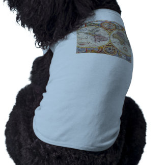 Vintage Antique Old World Map cartography Pet Tshirt