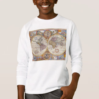 Vintage Antique Old World Map cartography T-Shirt