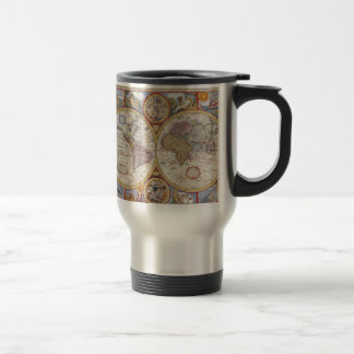 Vintage Antique Old World Map cartography Travel Mug