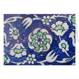 Vintage Antique Ottoman Style ceramic tile Card