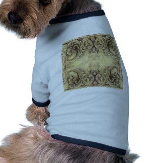 Vintage,antique ,pattern,grunge,worn,wood,wall, dog t-shirt