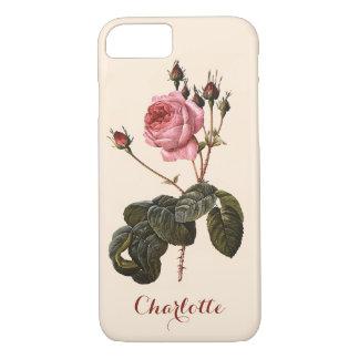 Vintage Antique Pink Garden Roses in Bloom iPhone 7 Case