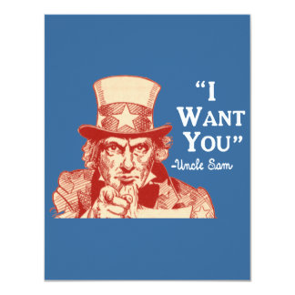 Vintage Antique Red Uncle Sam Independence July 4 Card