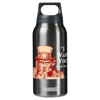 Vintage Antique Red Uncle Sam Independence July 4 Insulated Water Bottle