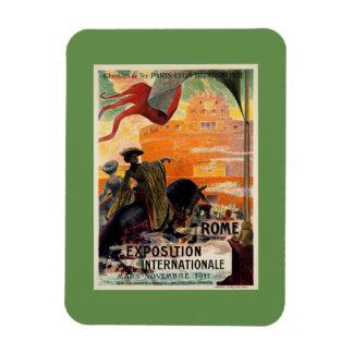 Vintage antique Rome 1911 expo travel ad Rectangular Photo Magnet