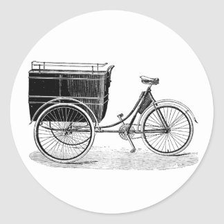 Vintage Antique Tricycle Stickers