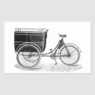 Vintage Antique Tricycle Rectangle Sticker
