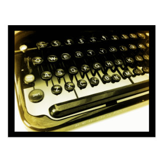 Vintage Antique Typewriter Keys Keyboard Postcard